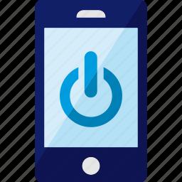 off, on, phone, shutdown, smartphone icon