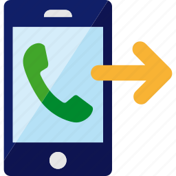 call, calling, outcoming, phone, smartphone icon