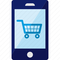 cart, online, phone, shoppong, smartphone icon