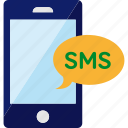 message, phone, smartphone, sms, text icon