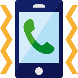 call, incoming, phone, smartphone, vibrate, vibration icon