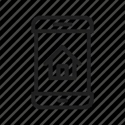 access, control, home, mobile, phone, screen, smartphone icon