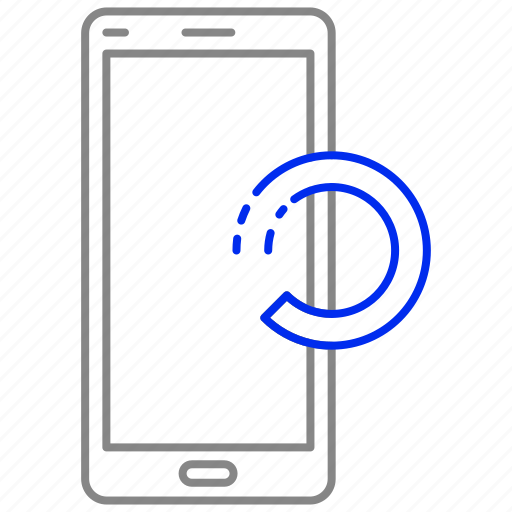 loading, mobile, phone, processing icon