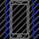 mobile, phone, ringging, vibrate, vibratting icon