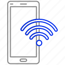 calling, connection, internet, mobile, phone, wifi icon