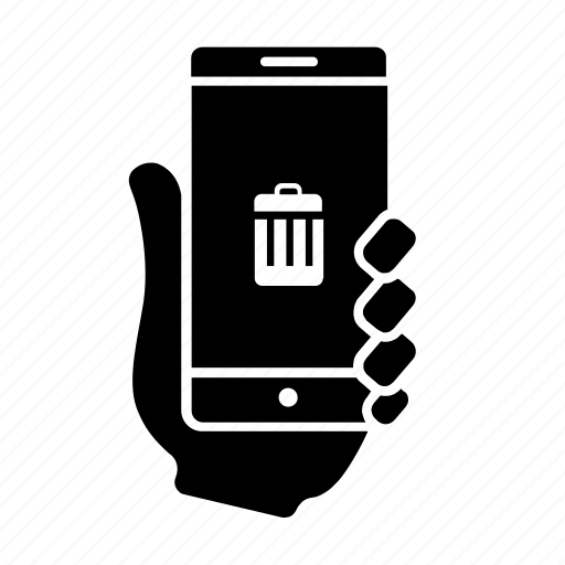 can, delete, mobile, smartphone, trash, usability, user icon
