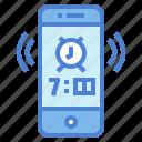 alarm, alert, bell, phone icon