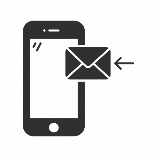cellphone, iphone, mail, message, phone, receiving message, smartphone icon