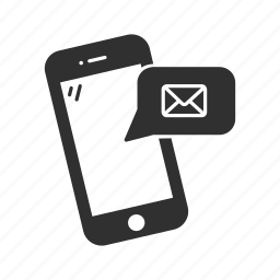 cellphone, chat, iphone, mail, message, notification, phone icon