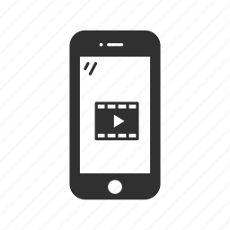 cellphone, chat, iphone, movie, phone, smartphone, video icon