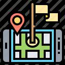 application, gps, map, navigation, target icon