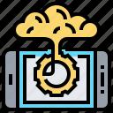 app, brain, creative, innovation, smartphone icon