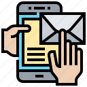 letter, mail, message, notice, notification icon