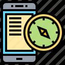app, compass, gps, navigation, smartphone icon