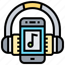 audio, headset, music, radio, song icon