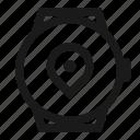 location, navigation, smartwatch, watch icon