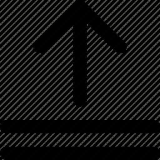 arrow, direction, orientation, upload icon