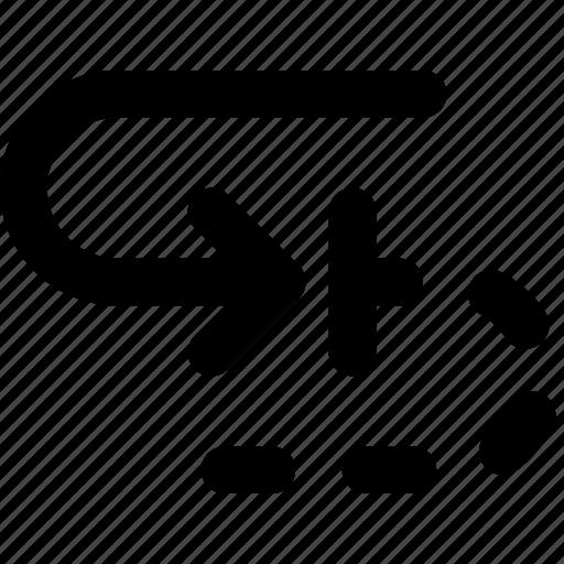 arrow, blocked, cycle, direction, orientation icon