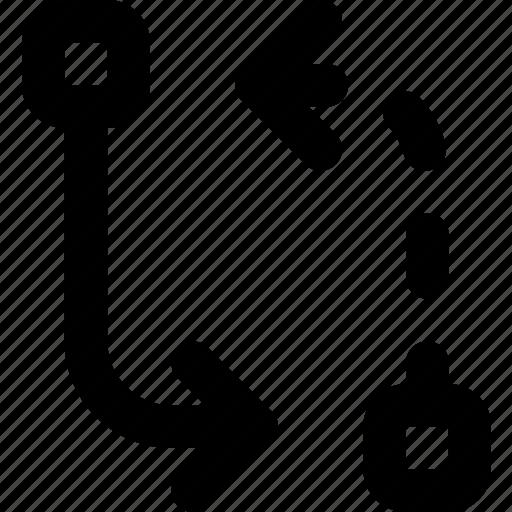 arrow, change, direction, orientation icon