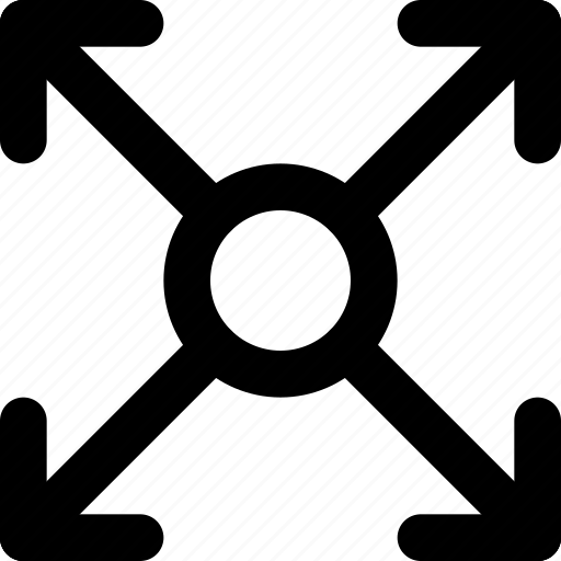 arrow, circle, direction, expand, orientation icon