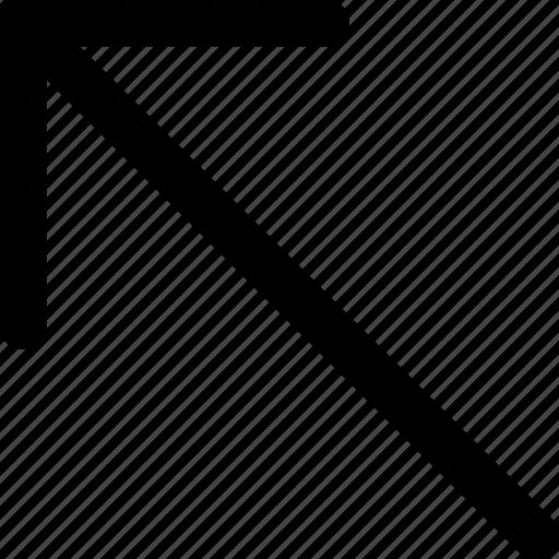 arrow, direction, left, orientation, top icon
