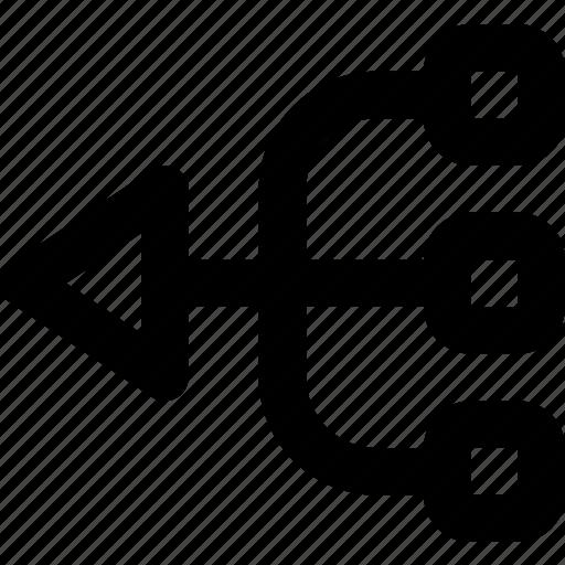 arrow, direction, left, multiply, orientation icon