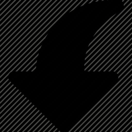 arrow, direction, downward, orientation icon