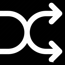arrow, direction, orientation, shuffle icon