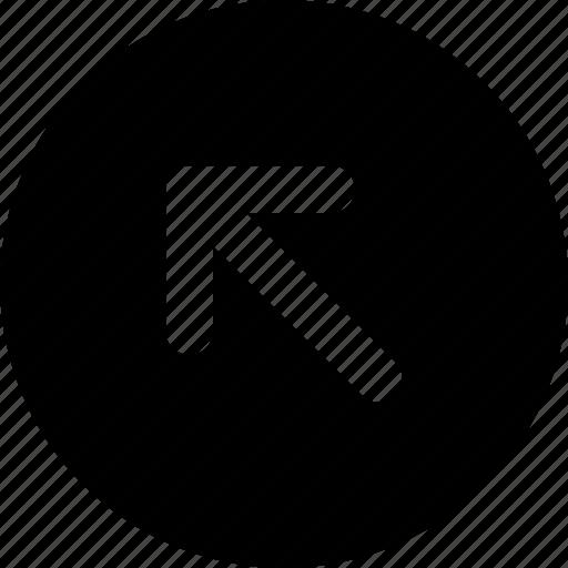arrow, diagonal, direction, left, orientation, up icon
