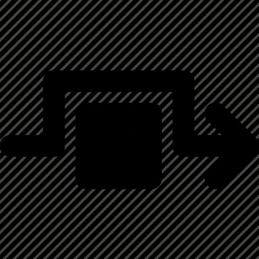 around, arrow, detour, direction, orientation icon