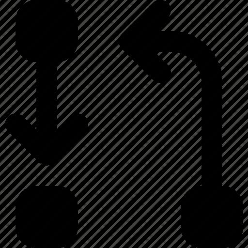 arrow, cycle, direction, orientation, transfer icon