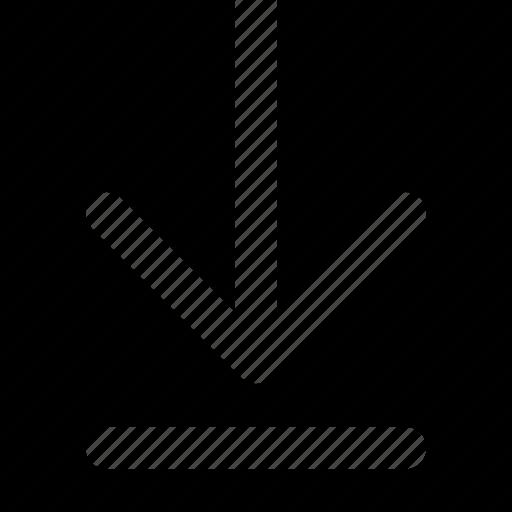 arrow, bottom, direction, move, orientation, to icon