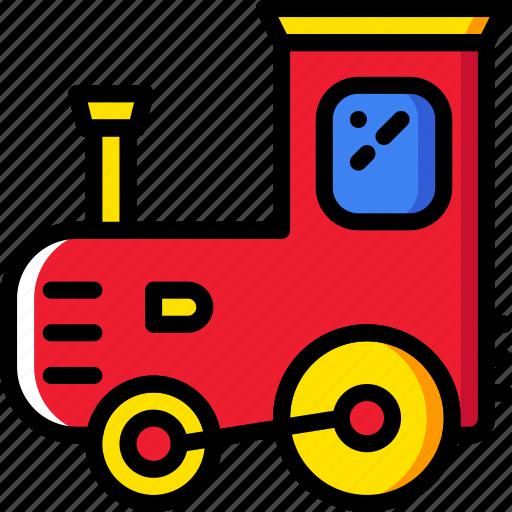 baby, child, kid, toy, train icon