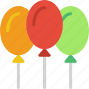 baby, balloons, child, kid, toy icon