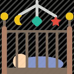 baby, child, crib, kid, toy icon