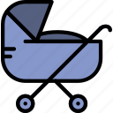 baby, child, kid, stroller, toy icon