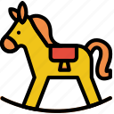 baby, child, horse, kid, toy icon