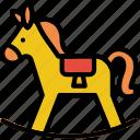 baby, horse, toy, child, kid