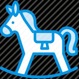 baby, child, horse, kid, toy icon