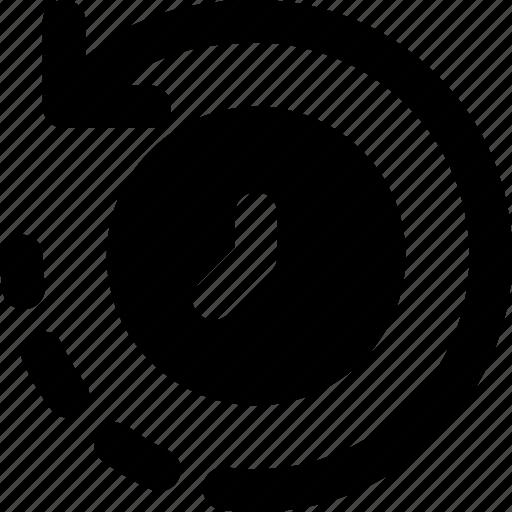 business, finance, marketing, rewind, time icon