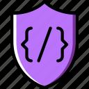 code, coding, development, programming, security icon