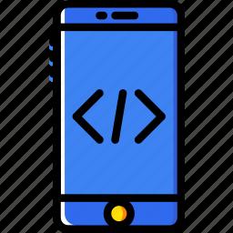code, coding, development, phone, programming icon