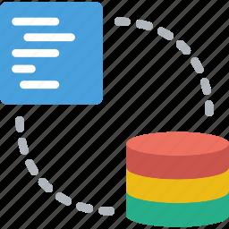 code, coding, database, development, programming, share icon