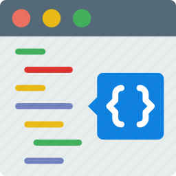 code, coding, development, functions, html, programming icon
