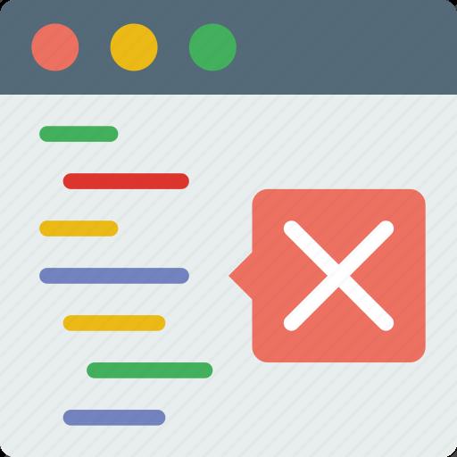 code, coding, development, error, html, programming icon