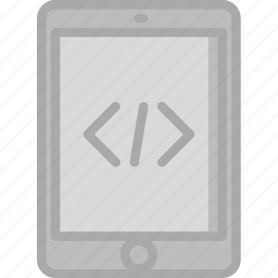 code, coding, development, programming, tablet icon