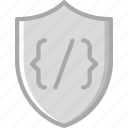 code, coding, development, programming, security icon