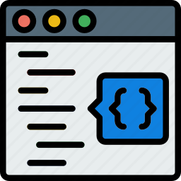 code, coding, development, functions, html, programming icon