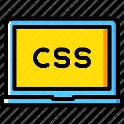 code, coding, course, css, development, programming icon