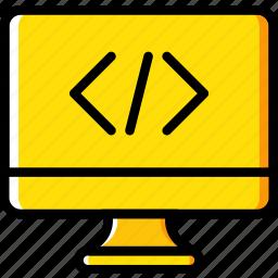 code, coding, development, pc, programming icon